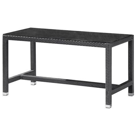 Patio Bar Height Tables Shop Zuo Modern 28 In X 55 In Rectangle Glass Patio Bar Height Table At Lowes
