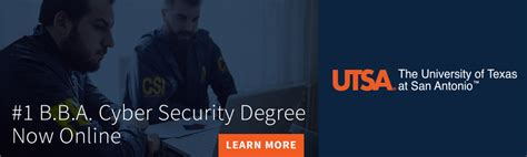 Mba Cyber Security Program For Business Major by Utsa Launches Fully Degree Program In