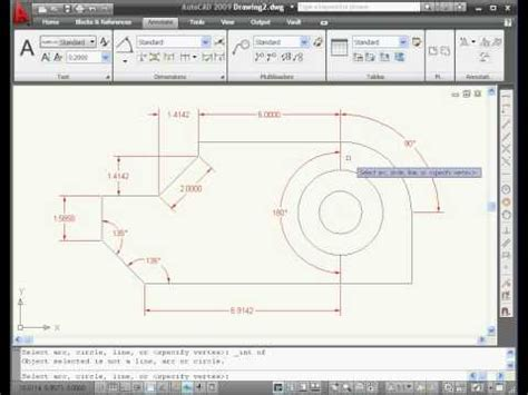 autocad 2007 dimensioning tutorial autocad 2009 tutorial dimensions youtube