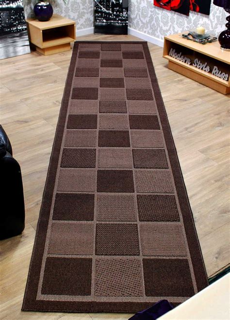 brown carpet runner checkered brown or wide