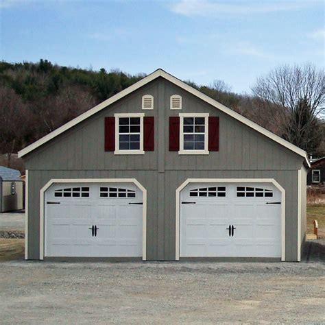 double car garage bayhorse gazebos barns 24 x 26 duratemp a frame two
