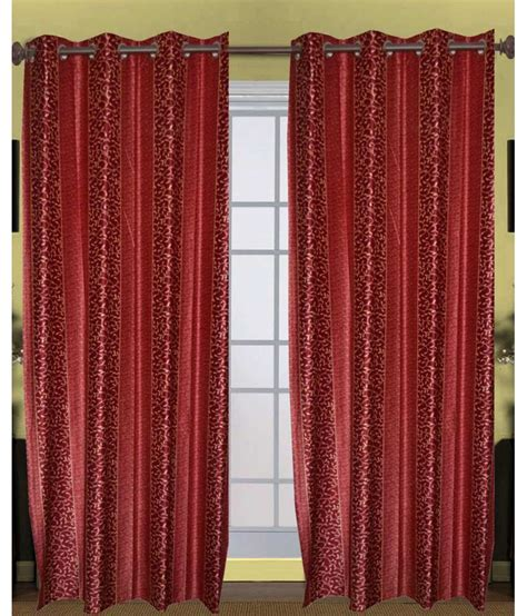 Multi Color Curtains Handloomtrendz Set Of 2 Door Eyelet Curtains Floral Multi Color Buy Handloomtrendz Set Of