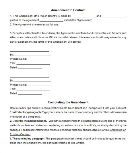 Letter Of Agreement Amendment image gallery format amendment
