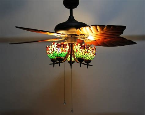 ceiling fan with stained glass light stained glass ceiling fan hum home review