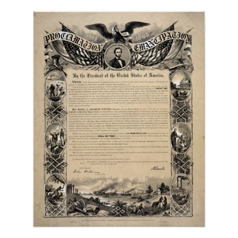 printable version of emancipation proclamation the emancipation proclamation document print zazzle