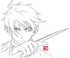 anime and boy coloring pages pics of anime outline coloring pages easy anime boy