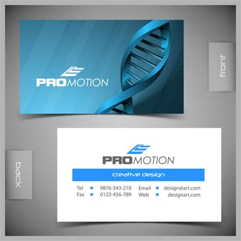 card template with front and back modern business cards front and back template vector 02