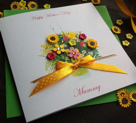 S Day Handmade Cards - handmade s day card quot flowers quot handmade