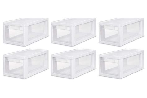 Sterilite 6 Drawer by Sterilite Narrow Modular Drawer 6 Pack 6 X 23508006
