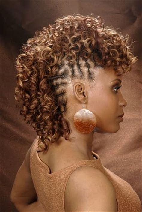 one sided mohawk weave hairstyles for black women curly mohawk hairstyles for 2012 2013