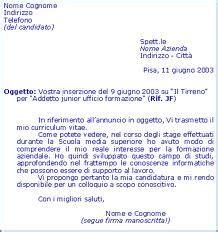 esempi di lettere di presentazione da allegare al curriculum come scrivere una lettera di presentazione per il cv