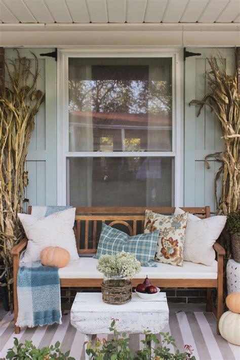 fall front porch shades  blue interiors