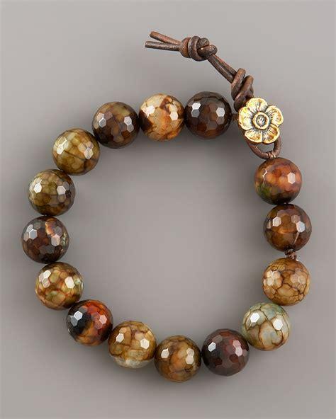 Agate Bracelet lyst heals faceted agate bracelet in brown