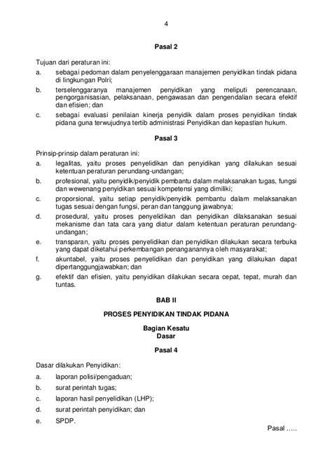 Penjatuhan Pidana Dan Dua Prinsip Dasar Hukum Pidana perka polri no 14 thn 2012 ttg manajemen penyidikan tindak