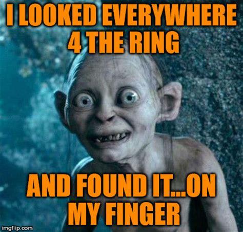 Finger Meme - golum imgflip