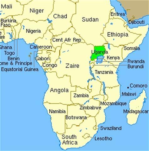 uganda on world map wh 2 semester 1