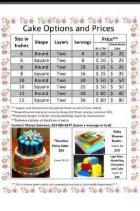 cake pricing sheet cake decorating