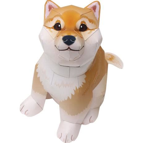 canon papercraft animal paper model shiba inu ver 2