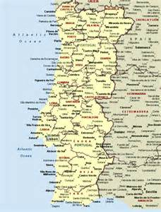 a map of cities map of portugal