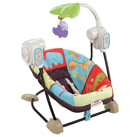 space saving swing fisher price luv u zoo space saver swing and seat target