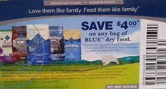 blue buffalo food coupons 10 blue buffalo 4 00 any bag of or cat food coupons exp 2 28 16 what s