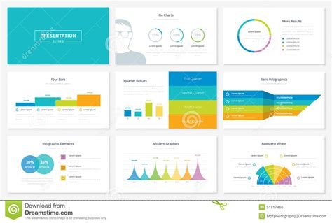 infographic presentation slide templates and vector