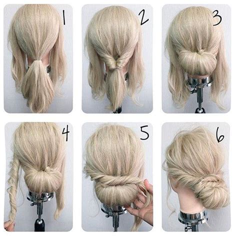 directions for easy updos for medium hair easy wedding hairstyles best photos easy wedding
