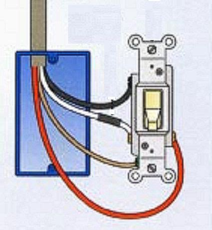 where to connect the wire to a light switch the