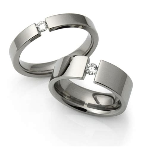 Tension Engagement Rings by Tension Set Engagement Rings Titanium Tension Rings By