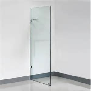 frameless shower glass panel 10 mm glass 850 x 2000 mm