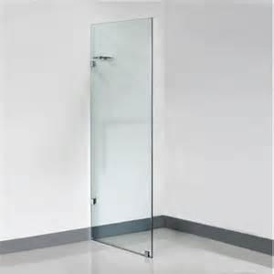 Frameless shower glass panel 10 mm glass 850 x 2000 mm
