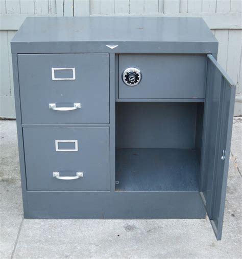 1950 s cole steel file cabinet with safe in mid city los