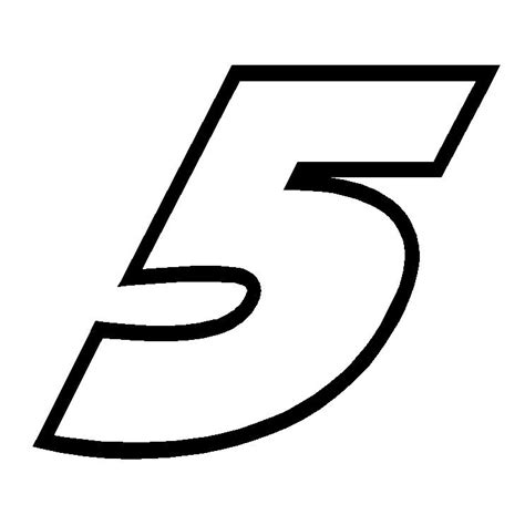 Window Decals Numbers by 4 Quot Kasey Kahne Number 5 Nascar Vinyl Window Decal Sticker