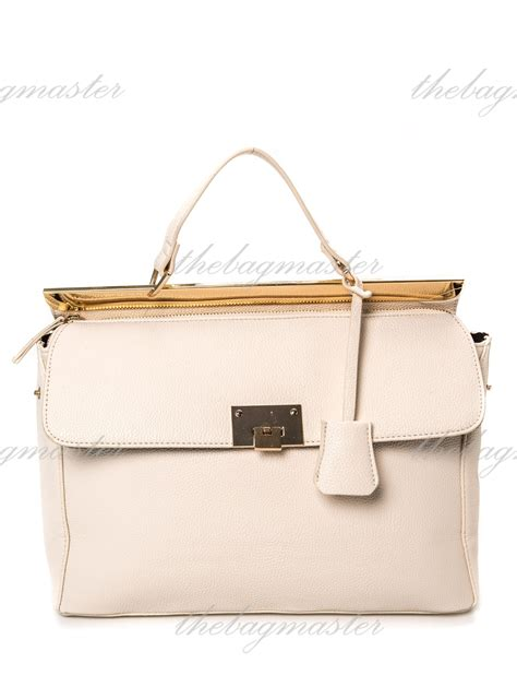 Faux Leather Satchel Bag forever21 convertible faux leather satchel bag white