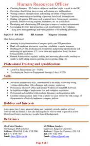 hr manager cv template hr officer cv template 2