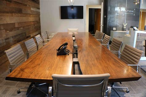 wood conference table custom wood slab conference table by greg pilotti