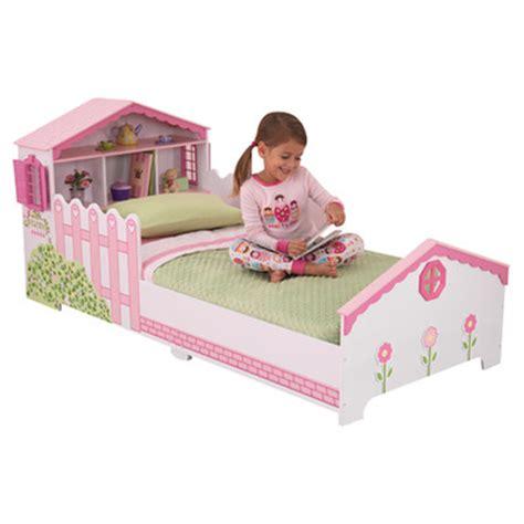 dollhouse toddler bed kidkraft dollhouse convertible toddler bed reviews wayfair