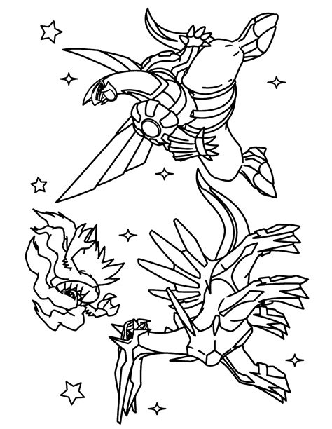 pokemon coloring pages palkia dialga coloring page coloring home
