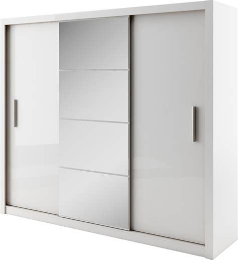 Idea ID 01 White 3 Sliding Door Wardrobe 250cm ? Arthauss
