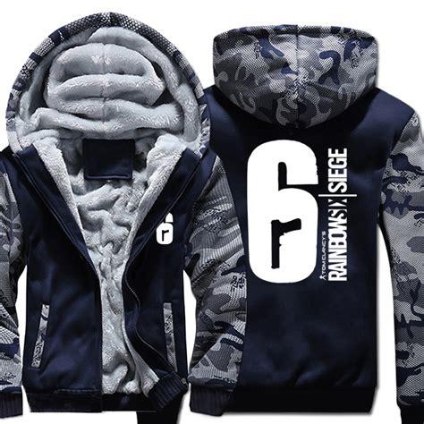 aliexpress buy mens casual 2017 tom clancy s rainbow six siege hoodies zip up thick