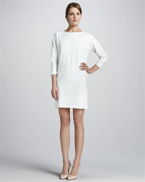 Shift Dresses by Theory Ode Crepe Shift Dress In White Lyst