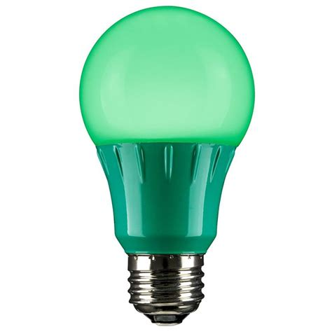 green led a19 120 volt e26 medium base party light bulb