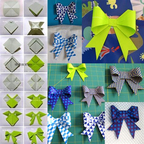 How To Make Origami Bows - boogie beans origami bows paper ribbon craft