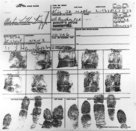 Martin Luther King Jr Criminal Record King Was Arrested In St Augustine Staugustine