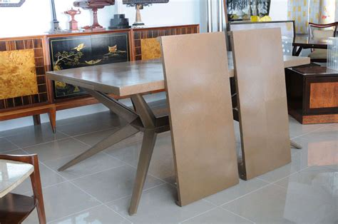 Limed Oak Dining Room Furniture A Rectangular Limed Oak Dining Table W 2 Leaves By Romweber At 1stdibs