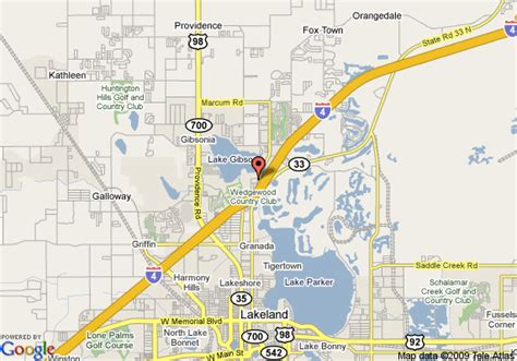 lakeland florida map map of quality inn suites lakeland