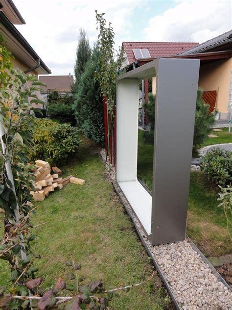 holzbeige gestell kaminholzregal metall 1 9 m x 1 5 m lackiert