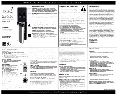 User S Manual Primo Water Store Manualzz Com