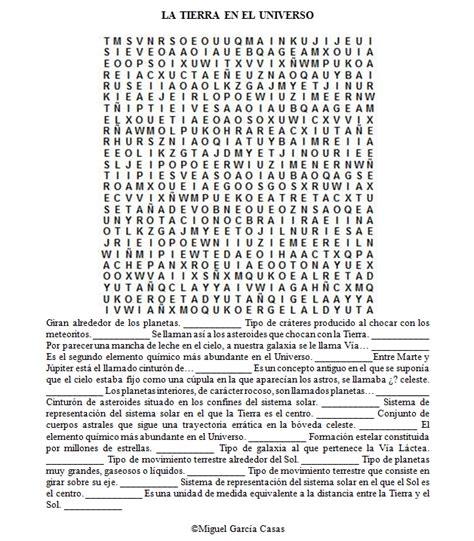 preguntas dificiles sobre ciencia 40 sopas de letras de ciencias naturales biolog 237 a y