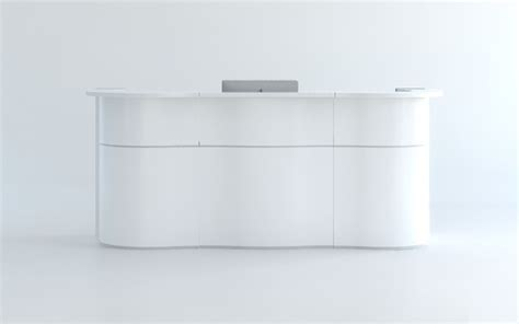 modern white reception desk white reception desk furniture white modern curved